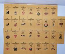 2006 Strat-O-Matic Baseball Printed Storage Envelopes with Stats and Team Logo