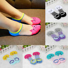 Women Girl Casual Cute Cat Ankle High Low Cut Invisible Silk Cotton Soft Socks