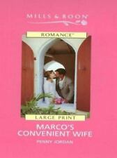 Marco's Convenient Wife (Mills and Boon Large Print Series)
