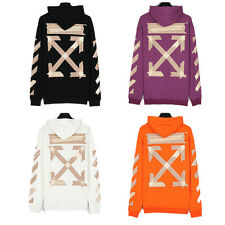 NEW OFF Unisex Cotton Hoodies Sweatshirt Casual Arrow Sweater Hoodies Sweatshirt