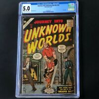 Journey into Unknown Worlds #59 (Atlas 1957) 💥 CGC 5.0 💥 Bill Everett Cover!