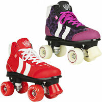Rookie Retro Girls Kids Adults Red Purple Quad Wheels Roller Skates Uk Size