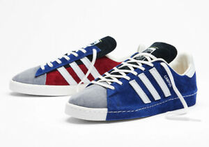 New Adidas Campus 80s x Recouture Shoes Athletic Casual Skate Blue-Grey-White 🔥
