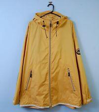 Vintage Armani Jeans Jacket In Yellow Hooded Windbreaker Oversized 90s Large 42