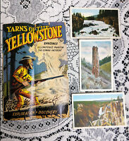 VINTAGE 1972-YELLOWSTONE PARK COMIC BOOK & 3 OLDER POST CARDS
