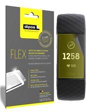 3x Fitbit Charge 3 Schutzfolie Folie, 100% Displayabdeckung, dipos Flex