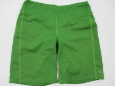 "Athleta Womens Size M Nylon Spandex Athletic Active 9.5"" Inseam Shorts Green"