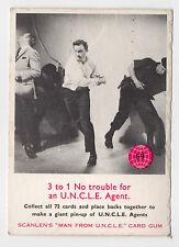 scanlens AUSTRALIA THE MAN DESDE Tío ORIGINAL Década 1960 Carta #59