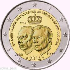 Luxembourg 2 euro 2014  50th Anniversary  to Throne of Grand of Grand Duke Jean