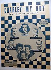 Partition de Musique Charley My Garçon 1924 W / Ukuele Arrangement Pop Chant