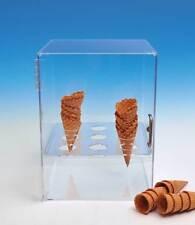 Ice Cream Cone Cabinet | Sugar & Waffle Cone Storage | Clear Cabinet | FREE SHIP