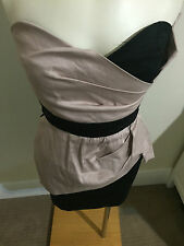 Topshop TFNC London Black Baby Pink Musk Strapless Boob Tube Mini Dress Cocktail