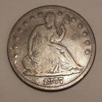 ESTATE FIND 1877 S  SEATED LIBERTY  Half Dollar!!