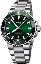 New Oris Aquis Green Dial Steel Bracelet Mens Watch 73377304157MB