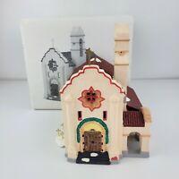 1990 Dept 56 The Original Snow Village Spanish Mission Church #5155-1