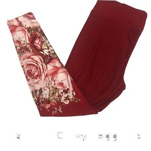 NWT Lularoe TC Tall Curvy Leggings Amore 2021 Valentines Day Roses