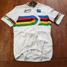 Aussie Mens XL Cycling Jersey UCI EDS NOS White X-Large
