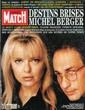 paris match n°2306 michel berger france gall   dewaere