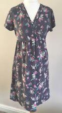 Ladies Mantaray Dark GreyComfy Floral Jersey Dress Size 14
