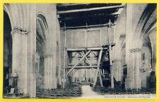 CPA RARE France 60 - CHAMBLY (Oise) Intérieur de L'ÉGLISE Echafaudage tableaux