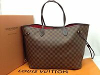 Auth Louis Vuitton Damier Brown Neverfull GM Shoulder Tote Bag 6K230280m*