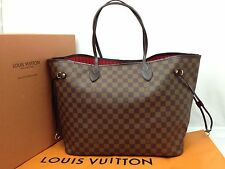 Authentic LOUIS VUITTON Damier Brown Neverfull GM Shoulder Tote Bag 6K230280m