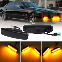 For BMW 5 Series E39 M5 96-04 Dynamic LED Side Marker Indicator Repeaters Light