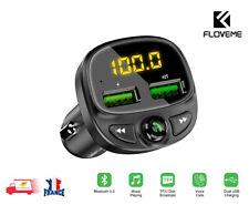 FM transmetteur pour téléphone Bluetooth sans fil USB chargeur de voiture FLOVEM