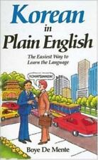 Korean in Plain English by Boye De Mente (1988, Paperback)