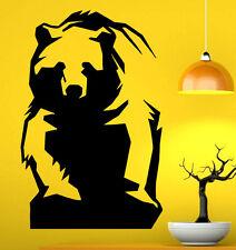 Grizzly Bear Wall Decal Vinyl Sticker Wild Animals Interior Art Decor (5bgr1)