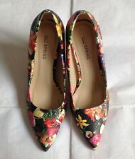 Call It Spring Debenhams Floral Pointed Toe Court Heels Shoes New Size 5-6