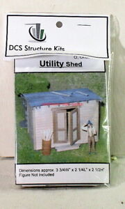 DCS Structure Kits #K011~1:48,On30,On3,O-Scale~Utility Shed~NOS~MIB~OOP
