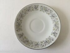 Dynasty Fine China ELEGANCE 1005 Blue Gray Green Flowers - TEA CUP SAUCER