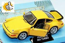 Porsche 964 Turbo modellauto model car gelb yellow Welly diecast scale 1:36 box