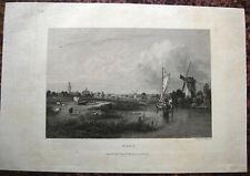 DEN HAAG Niederlande NEDERLAND. Originaler Stahlstich 1831