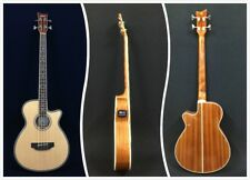 4-String Haze 3/4 Size Acoustic Bass Guitar,Nat w/EQ+Free Gig Bag |FB-711BCEQ/N|