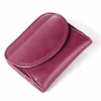 Purple Womens Genuine Leather Bifold Wallet Coin Purse Credit Card Holder Clutch