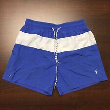 Polo Ralph Lauren Mens Blue White Swim Shorts Trunks Bathing Suit XL
