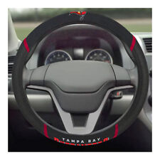 Brand New NFL Tampa Bay Buccaneers Black Mesh Extra Grip Steering Wheel Cover
