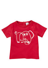 BNWT, Short Sleeve, T-shirt, Elephant, Red, Size 00, 3-6 Months