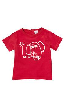 BNWT, Short Sleeve, T-shirt, Elephant, Red, Size 00, 3-6 Months