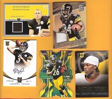 LANDRY JONES Auto BEN ROETHLISBERGER RC LE'VEON BELL ROOKIE ANTONIO BROWN JERSEY
