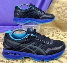 ASICS GT-2000 5 Lite-Show Black Island Blue Reflective Running Walking 40.5 9
