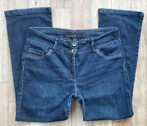 Ladies NEXT Bootcut lift & shape jeans size 16 petite waist 34 leg 29