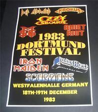 Dortmund Metal Festival concert poster Westfalenhalle Germany 1983 A3 size repro