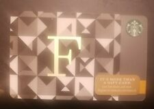 "Starbucks 2014 Letter  ""F"" A to Z Alphabet Series Gift Card Unloaded"
