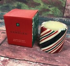 "Avon Candles Chocolate Mint Swirl Pillar Candle 3"" Christmas Holidays Candle"