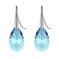 Classic Sterling Silver Teardrop Drop Earrings use Genuine Swarovski Elements