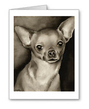 Chihuahua note cards by watercolor artist Dj Rogers