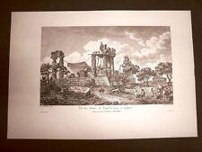 Agrigento Veduta Rovine del Tempio di Giunone Voyage Pittoresque di Saint Non